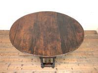 Antique Oak Drop Leaf Table (2 of 11)