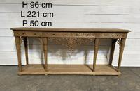 Wonderful French Walnut Console Table (19 of 36)