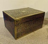 Boulle Inlaid Silver-Gilt Ladies Dressing & Jewellery Case (2 of 7)