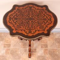 19th Century Marquetry Tripod Table (5 of 17)