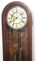 Fantastic Antique Walnut Arch Glazed 8-day Twin Weight Striking Vienna Regulator Wall Clock (9 of 12)