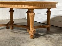 Huge Bleached Oak French Extending Dining Table (14 of 24)