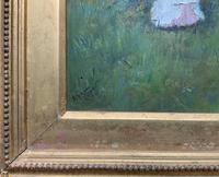 'R.M Stewart' Original Lovely 19thc Elegant Lady Oil Portrait Painting '1886' (8 of 11)