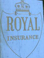 Interesting Architectural Large Heavy Marble & Gilt Inscribed Royal Insurance Building Sign (6 of 13)