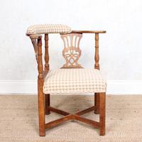 Georgian Corner Elbow Chair Beech (5 of 10)