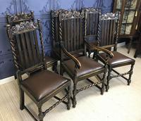 Set of Six Oak Dining Chairs (6 of 11)
