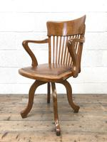 Early 20th Century Antique Swivel Desk Chair (6 of 10)