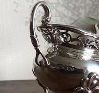 Unusual Scottish Pierced Silver Milk Jug c.1900 (4 of 5)