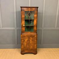 Good Burr Walnut Corner Cabinet (2 of 7)