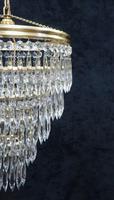Italian Art Deco Five Tier Crystal Glass Chandelier (3 of 7)