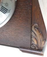 Good Art Deco Oak Mantel Clock – Striking 8-day Arched Top Mantle Clock (4 of 9)