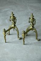 Pair of Brass Fire Dogs (12 of 12)