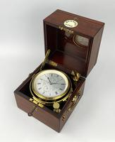 Fine Quality Mahogany Two Day Marine Chronometer by Barraud of London, Numbered 2332