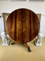 19th Century Rosewood Round Centre Table (5 of 8)
