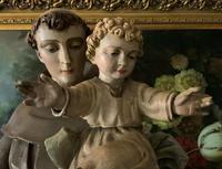 Bohumil Kafka RARE Carved Statue Sculpture St Anthony & Jesus (19 of 32)