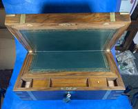 Victorian Brass-bound Walnut Writing Slope with Secret Drawers (23 of 39)