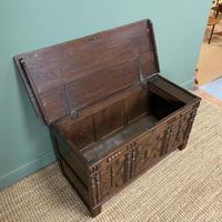 17th Century Oak Geometric Moulded Antique Coffer (7 of 7)
