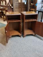 Pair of Walnut Bedside Tables (5 of 5)