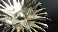 Antique Edwardian Silver Diamond Paste Star Burst Brooch (4 of 12)