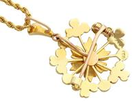 Ruby & Seed Pearl, 15ct Yellow Gold Pendant / Brooch - Antique c.1920 (6 of 14)