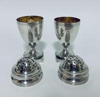 Pair of 18th Century Georgian Solid Sterling Silver Salt and Pepper Shakers Pepperettes (6 of 12)