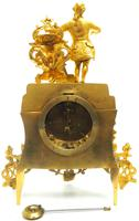 Superb Timepiece Mantle Clock -  Antique 8 Day French Poet Figural Ormolu Mantel Clock (8 of 11)