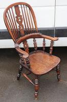Beautiful Large Oak Country Farmhouse Armchair - 1940s (3 of 4)