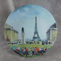 """Premiere Edition, Henri d'Arceau & Fils of Limoges """"La Tour Eiffel"""" by Louis Dali Plate"""
