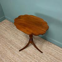 Victorian Mahogany Antique Tripod Occasional Wine / Lamp Table (5 of 6)