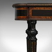 Antique Napoleon III Side Table, French, Etagere, Burr Walnut, Sewing c.1870 (11 of 12)