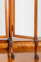 Very Pretty Queen Anne Style Walnut Triple Mirror (3 of 6)