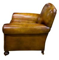 Pair of Leather Club Chairs c.1890 (8 of 11)