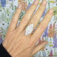 Stunning Vintage 18ct Gold Marquise Diamond Cluster Ring 1.65ct ~ With Independent Appraisal / Valuation (4 of 10)