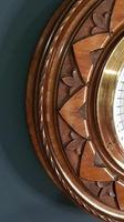 Antique Polished Walnut Barometer (3 of 5)