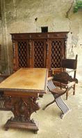 Italian Neo Renaissance Desk, Study Furniture Gothic (3 of 10)