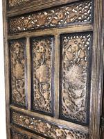 Vintage Indian Hardwood Three Panel Screen Room Divider (10 of 10)
