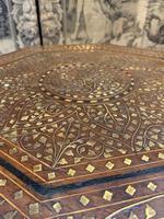 Early 20th Century Brass Inlaid Hoshiarpur Table (3 of 7)
