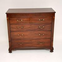 Antique Georgian Inlaid Mahogany Chest of Drawers (3 of 11)