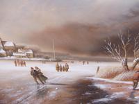 Oil on Board Dutch Landscape Artist Thomassini (8 of 10)