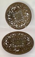 Pair of 19th Century Coalbrookdale Cast Iron Plates c.1880 (6 of 6)