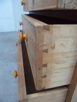 Victorian Antique Pine 4 Drawer Heavy Chest of Drawers to Wax / Paint (8 of 9)