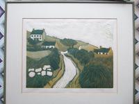"""Berwyn Jones Woodcut Entitled """"Ocyr Mynydd"""""""
