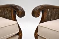 Pair of Antique Swedish Satin  Birch Bergere Armchairs (6 of 12)
