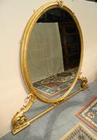 Large 5' Gilt Overmantel Mirror (5 of 6)