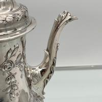 18th Century Antique George III Sterling Silver Rococo Coffee Pot London 1765 William & James Priest (7 of 10)