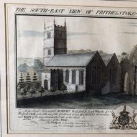 Bucks Antiquities Copper Etching Frithlestock Priory 1734 - Antique Devon Print (3 of 5)