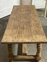 Nice Large Bleached Oak Farmhouse Dining Table With Extensions (14 of 35)