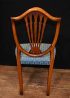 Set 8 Hepplewhite Dining Chairs Mahogany (5 of 7)