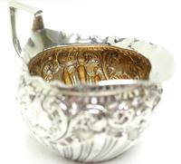 English Victorian Antique Solid Silver Tea Set, Embossed Decoration c.1890 (6 of 11)