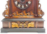 Rare Fusee Cuckoo Mantel Clock – German Black Forest Carved Bracket Clock (7 of 10)